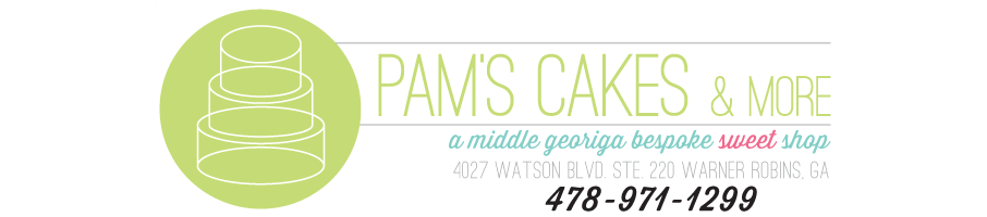 Pam's Cakes & More - a Middle Georgia Cake Shop specializing in wedding cakes, groom's cakes and birthday cakes