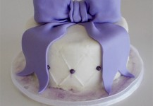 Purple Bow Smash Cake