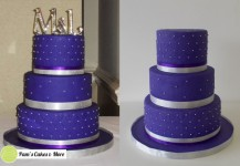 Purple and Silver Diamond