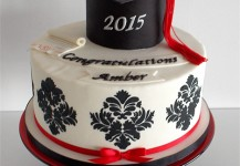 Black Damask Graduation