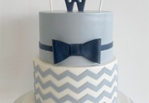Grey Chevrons and a Bowtie
