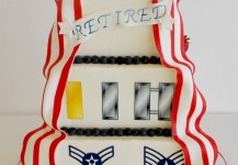 Air Force Retirement Bow Cake